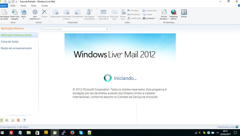 Configurando o Windows Live Mail para acesso POP